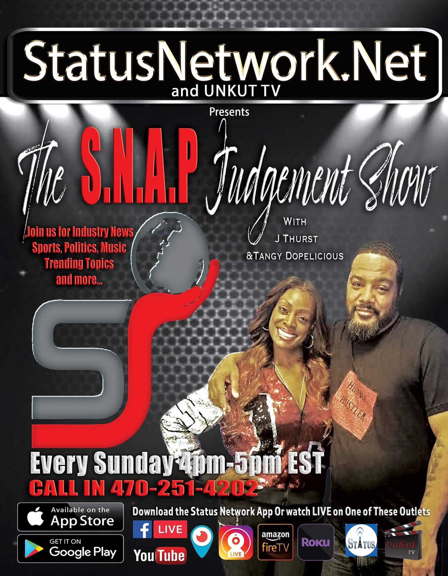 The S.N.A.P. Judgement Show flyer